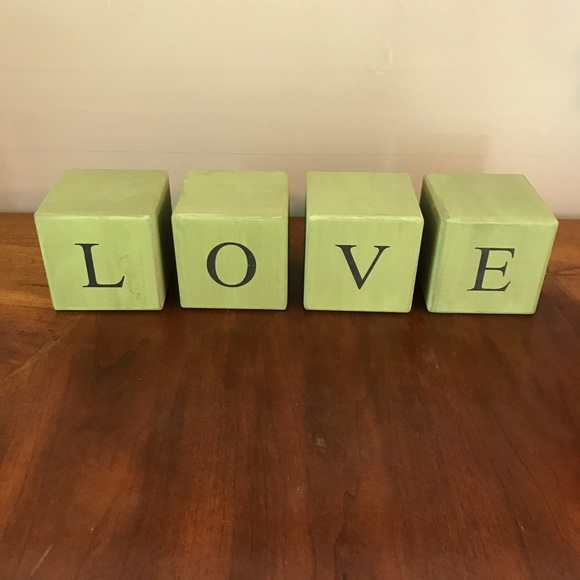 None Other - LOVE Wooden Blocks